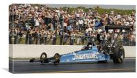 """Silverline Dragster Driven by Dave """"Grumpy"""" Wilson, Canvas Print"""