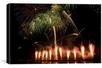 Firework Competition, Canvas Print