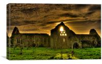 Ruins of Ireland - Dominican Priory Athenry, Canvas Print