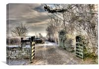 Cottage gate, Canvas Print