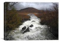 Rapid river through Scottish Highlands