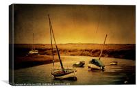 Blakeney Boats 2, Canvas Print
