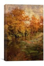Autumn River, Canvas Print