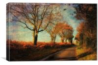 To Little Barningham, Canvas Print