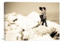 Kiss on rock