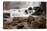 Icelandic waterfall, Canvas Print