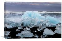 Ice formations at Jokulsarlon lagoon, Iceland, Canvas Print