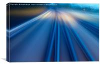 Abstract lights on train track, Canvas Print
