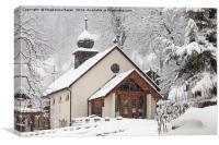 Church in Wengen, Switzerland, Canvas Print