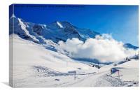 Winter in Wengen, Switzerland, Canvas Print