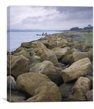 Tidal Wall, Humber,, Canvas Print