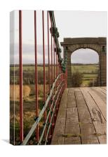 Bridge Steelwork, Canvas Print