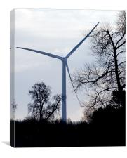 Wind Turbine through Trees, Canvas Print