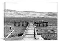 Pier at San Carlos, Canvas Print