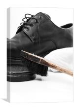 shoe polish, Canvas Print