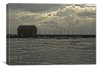 Storm Clouds Elie Harbour, Canvas Print