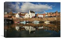Crail Harbour Reflections, Canvas Print