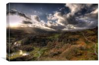 View from Dolwyddelan Castle, Canvas Print