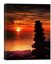 Leaning Tower of Rocks, Canvas Print