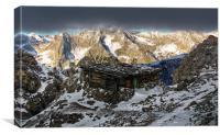 Alps Lodge, Canvas Print