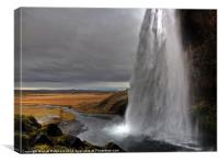 Seljalandsfoss Waterfall, Canvas Print