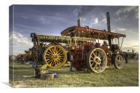 Showmans Engines at the fair, Canvas Print
