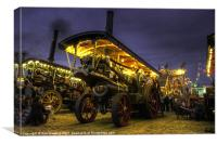 Showmans Engine by night, Canvas Print