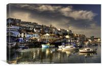 Brixham old harbour, Canvas Print