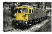Class 33 at Swanage, Canvas Print