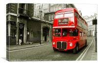 No 15 bus, Canvas Print