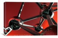 Red Atomium, Canvas Print