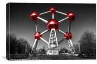 Red Atomium part deux, Canvas Print