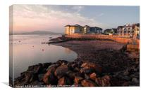 Waterside at Exmouth, Canvas Print