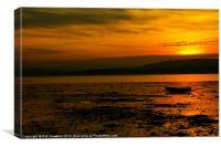 Exe Estuary Sunset, Canvas Print