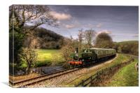 Pannier Tank on the Dart Valley, Canvas Print