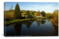 The River Exe at Bickleigh, Canvas Print