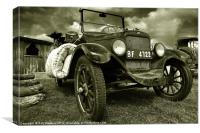 The old jalopy, Canvas Print