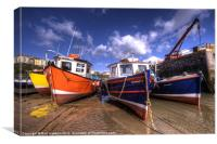 Fishing Boats at Tenby, Canvas Print