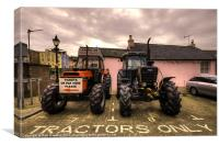 Tractors Only, Canvas Print