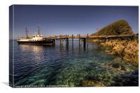 The MV Oldenburg at Lundy Island, Canvas Print