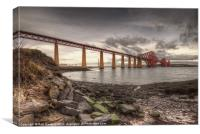 Forth Rail Bridge at dawn, Canvas Print