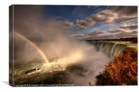 Rainbows over Niagara Falls, Canvas Print