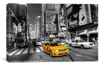 Times Square Taxi, Canvas Print