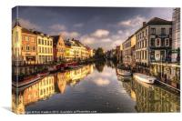 Reflections over Ghent, Canvas Print