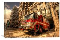 Boston Fire Truck, Canvas Print