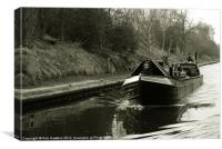 Narrowboat on the New Cut, Canvas Print