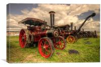 Traction Engines at the Great Dorset, Canvas Print