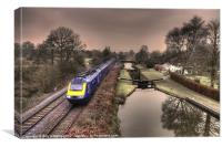 Winter at Little Bedwyn, Canvas Print