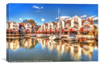 Marina Reflections, Canvas Print
