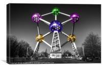 Xmas Atomium, Canvas Print